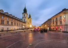 Holy Cross Church in Warsaw Stock Photo