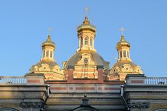 Holy Cross Cossack Cathedral in St. Petersburg Stock Image