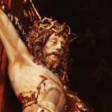 Holy cross with crucified Jesus Christ. (details Stock Photography