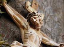Holy cross with crucified Jesus Christ Stock Photos