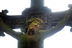 Holy cross with crucified Jesus Christ Stock Image