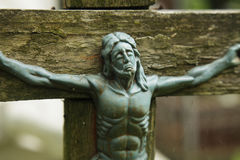 Holy cross with crucified Jesus Christ Stock Photography