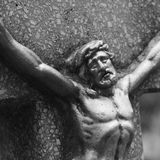 Holy cross with crucified Jesus Christ Stock Images