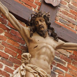 Holy cross with crucified Jesus Christ. (details Royalty Free Stock Images