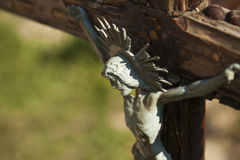 Holy cross with crucified Jesus Christ Royalty Free Stock Image