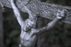 Holy cross with crucified Jesus Christ. Details Royalty Free Stock Photo