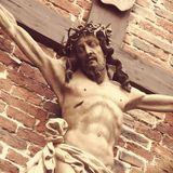 Holy cross with crucified Jesus Christ. Details Royalty Free Stock Images