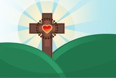 Holy Cross - Easter theme Stock Photo