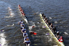 Holy Cross (left) Boston College (middle) get tangled up in a crash Stock Images