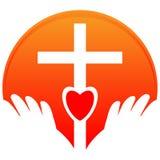 Holy cross logo -  illustration on white background Royalty Free Stock Images