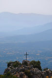 Holy cross and mountains Royalty Free Stock Images