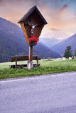 Holy cross and mountains Royalty Free Stock Image