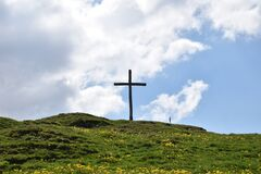 Free Holy Cross On A Hill In Flumserberg In Switzerland 17.5.2020 Stock Photography - 208450462
