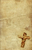 Holy Cross on paper. Vintage Holy Cross against grunge paper background Stock Images