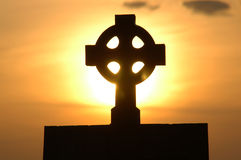 Holy cross on a stone Royalty Free Stock Image