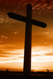 Holy cross at sunset Stock Image