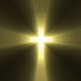 Holy cross symbol sun light flare Stock Images