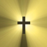 Holy cross symbol sun light flare Royalty Free Stock Image