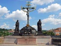 Holy Crucifix and Calvary Statue, Prague. Stock Photos