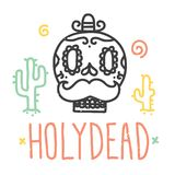 Holy dead sugar skull Stock Image