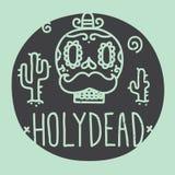 Holy dead sugar skull Stock Image