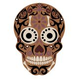 Holy Death, Day of the Dead, Mexican Sugar. Skull, Day of the Dead, Feast of Death, Vector Skeleton Head Drawing vector illustration