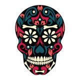 Holy Death, Day of the Dead, Mexican Sugar Skull,Dead, Feast of Death, Vector Skeleton Head Drawing. Holy Death, Day of the Dead, Mexican Sugar Skull, Day of the vector illustration