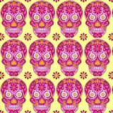 Holy Death, Day of the Dead, Mexican Sugar Skull, Day of the Dead, Feast of Death,. Vector Skeleton Head Drawing vector illustration