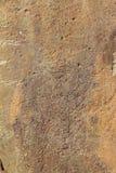 Holy deer petroglyph Stock Photo