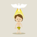 Holy design. Over beige background vector illustration Royalty Free Stock Photography