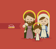 Holy design. Over red  background  illustration Royalty Free Stock Photo