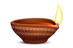 Holy Diya for Festival Stock Photo