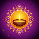 Holy Diya for Festival Stock Image