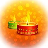 Holy Diya for Festival Stock Image