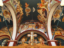 Holy dome. The ceiling of a greek church royalty free stock photos