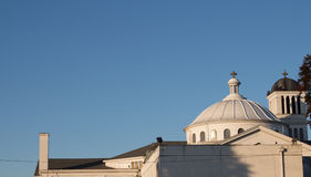 Holy Domes Among The Cloudless Sky Stock Photography