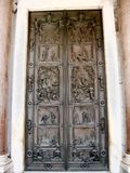 Holy door of the basilica of St Paul outside the walls Stock Images
