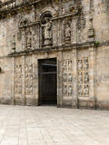 Holy door in Saint James Compostela cathedral royalty free stock photo