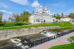 Holy Dormition Cathedral on Assumption Mount and Holy Spirit Monastery, Vitebsk, Belarus Stock Photography