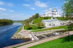 Holy Dormition Cathedral on Assumption Mount, Vitebsk, Belarus Stock Photos