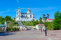 Holy Dormition Cathedral and Holy Spirit Monastery, Vitebsk, Belarus Royalty Free Stock Photography