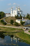 The Holy Dormition Cathedral on the Uspensky mountain above the Western Dvina in Vitebsk. Stock Images