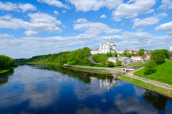 Holy Dormition Cathedral on Uspensky mountain above Western Dvina, Vitebsk, Belarus Stock Image