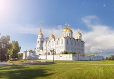The Holy Dormition Cathedral. Vladimir, Russia. The Holy Dormition Cathedral in Vladimir. The original white-stone cathedral was built in 1158-1160. Russia stock photos