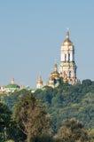 The Holy Dormition Kiev-Pechersk Lavra. Beckons golden domes Stock Images