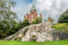 Holy Dormition Orthodox Cathedral in Helsinki.Finland. Stock Image