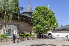 Free Holy Dormition Pskovo-Pechersky Monastery Pskov-Caves Monastery. Peter`s Tower Royalty Free Stock Photography - 154105387