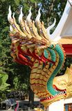 Holy dragons. Sculpture sacred dragons head in the Templer stock photography