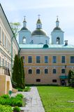 Holy Epiphany monastery, Polotsk, Belarus. View of former residential building of Holy Epiphany Monastery and Holy Epiphany Cathedral,  Polotsk, Belarus Stock Photography