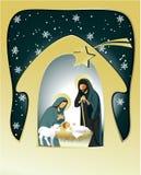 Holy family. Nativity scene with holy family Royalty Free Stock Photos